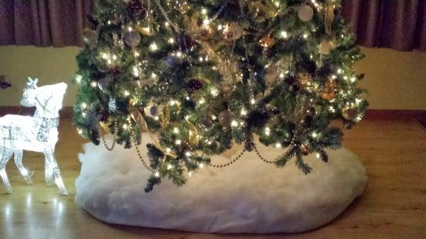 Lighted Silver Reindeer