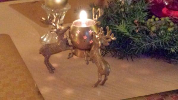 Three Reindeer candle