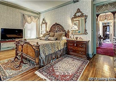 Turquoise bedroom Victorian mansion $979,900