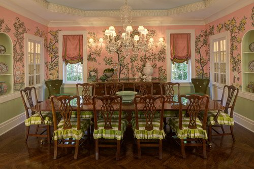 Colorful home decor for Pink dining room ideas