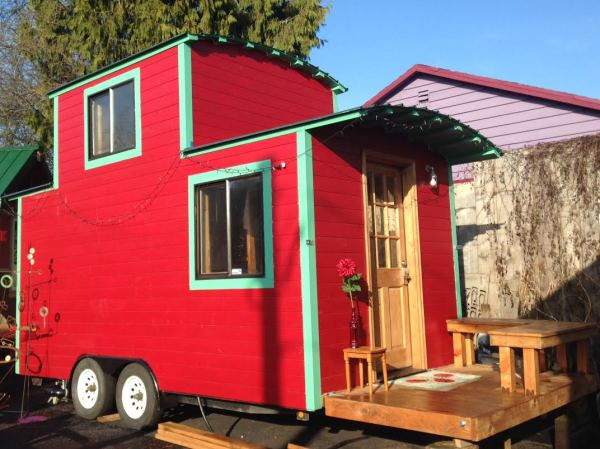 Tiny Houses - A Red Caboose is for rent in Portland