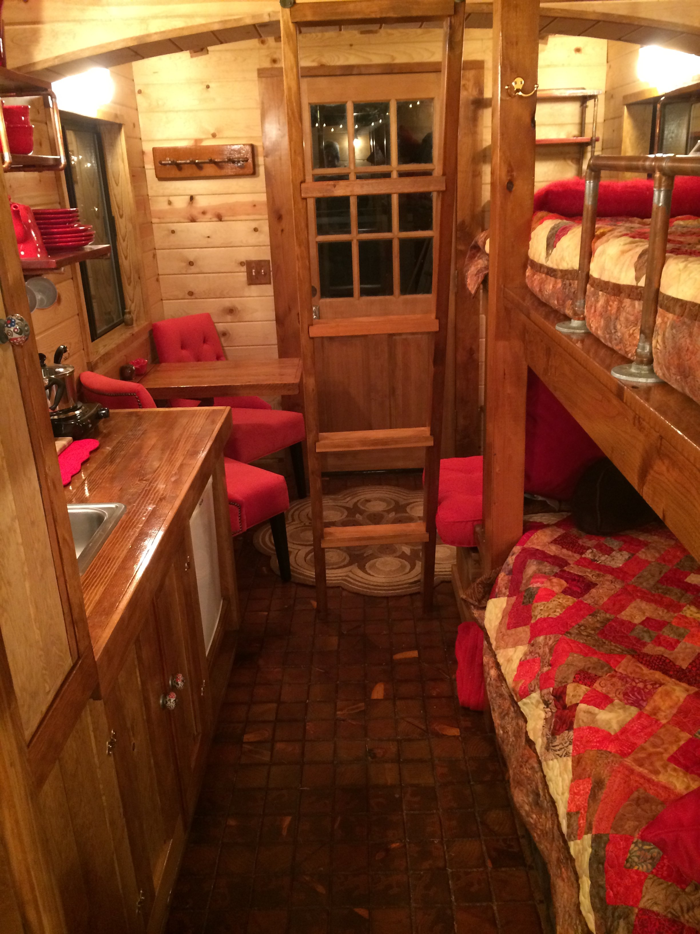 Tiny houses a red caboose for Home interior pictures