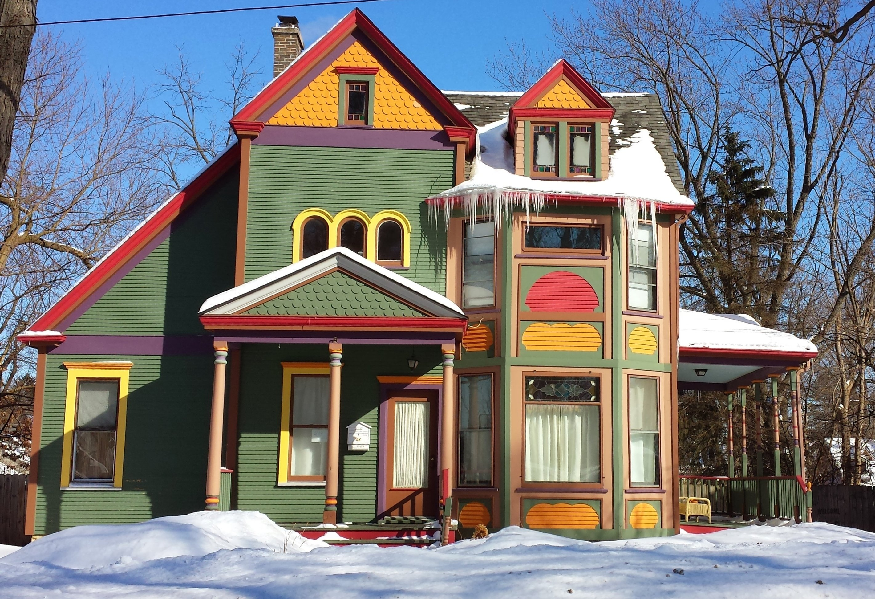 Color block Victorian Home