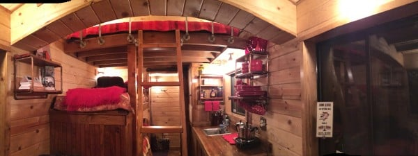 Curved roof interior - The Caboose