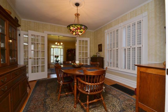 Dining room w french doors 213 S 5th St Geneva IL