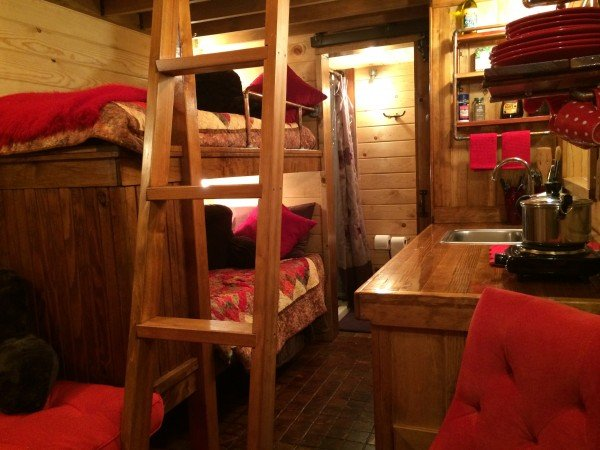 Kitchen and twin bunks