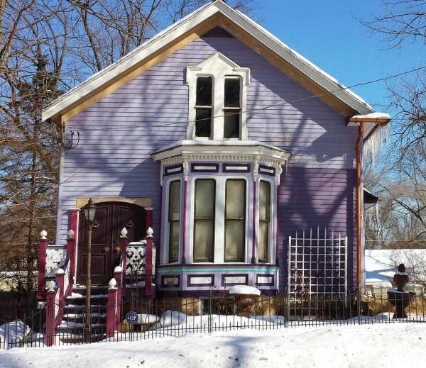 Purple Victorian Home