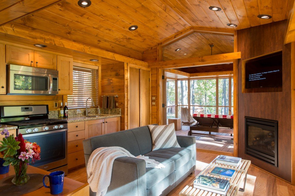 ESCAPE Canoe Bay Living Area