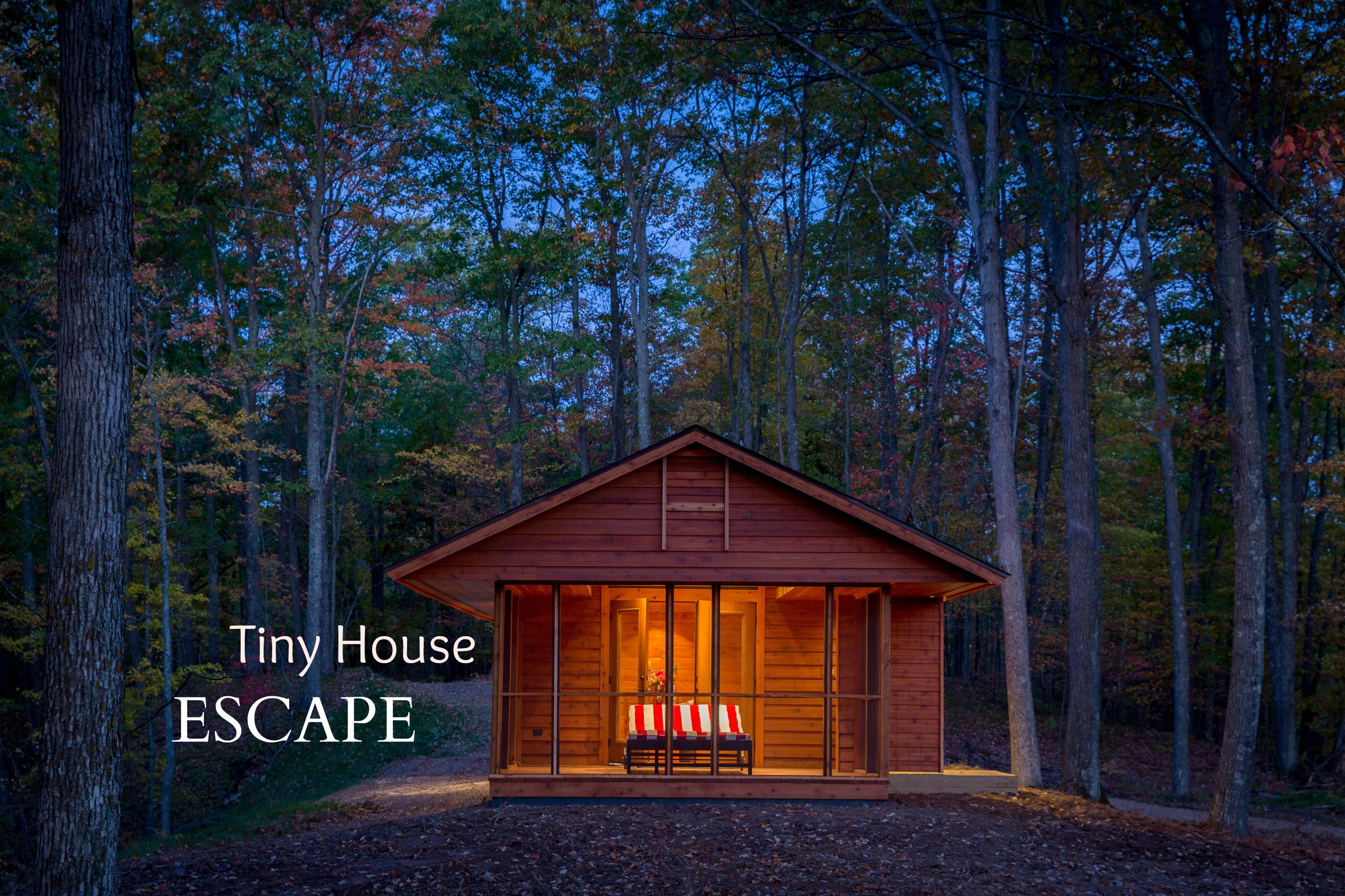 Tiny house escape in canoe bay is a cabin rv Tiny cabin