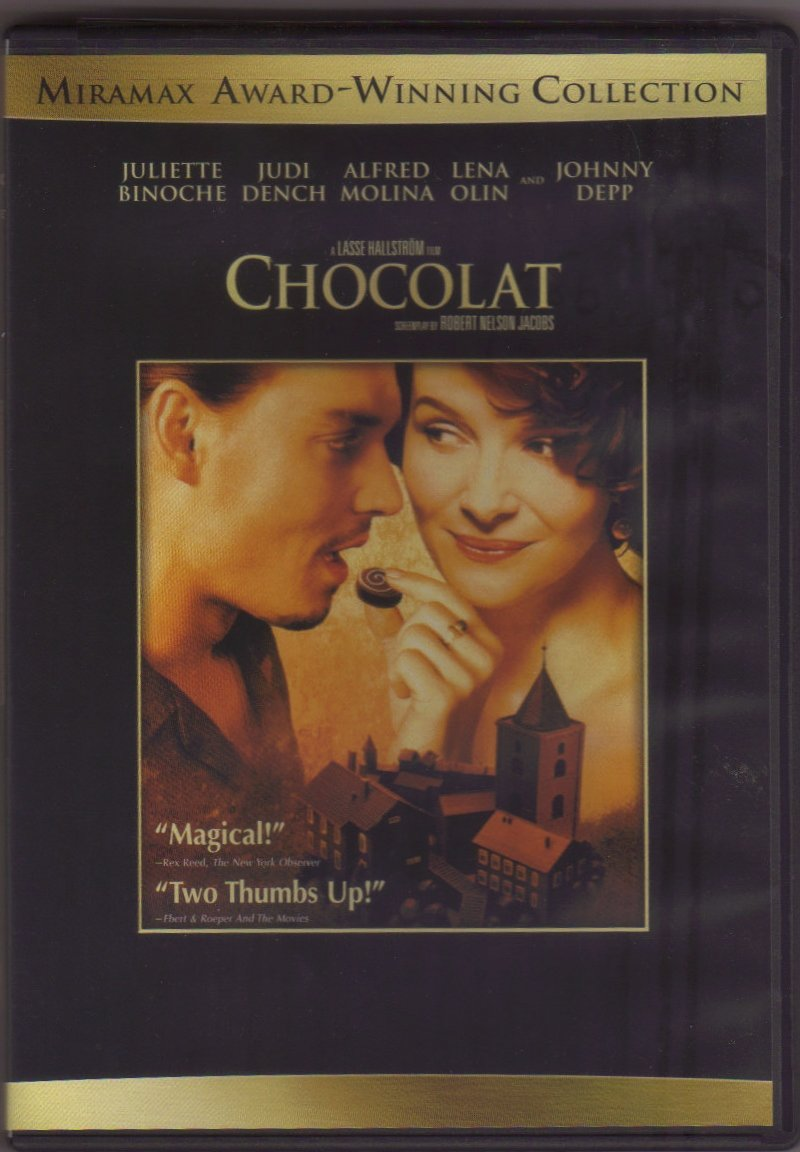 Chocolat Movie CHOCOLAT DVD COVER