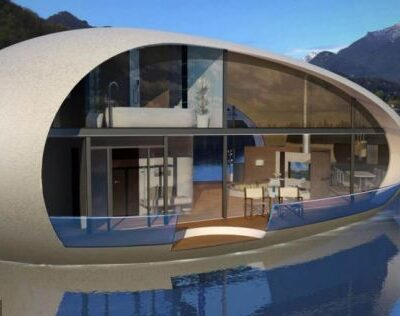 Giant egg-shaped houses