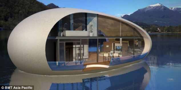 Giant egg-shaped houses
