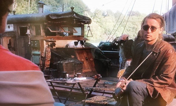 Johnny Depp in Chocolat boat scene