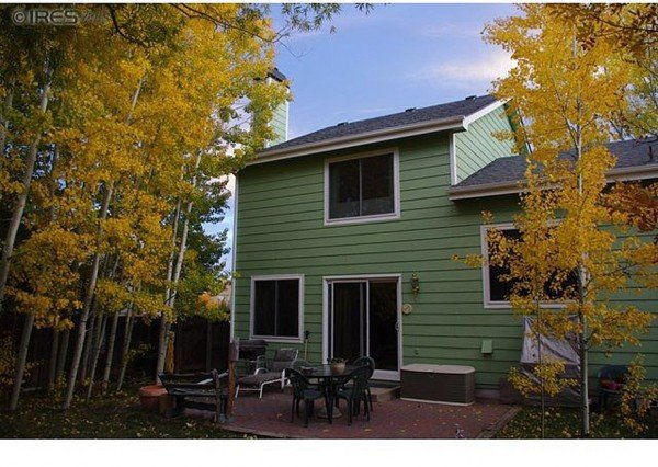 Backyard Fort Collins CO house for sale