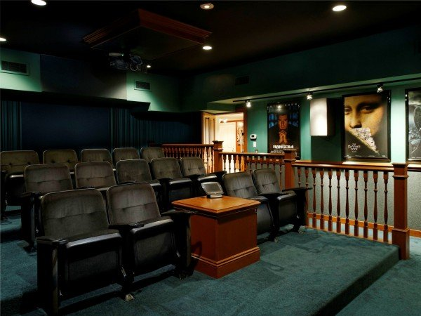 14-seat theater Ron Howard home #Celebrity house, #Ron Howard