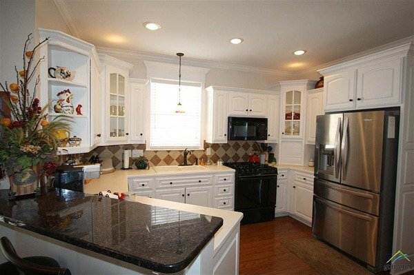 Custom white kitchen cabinets Tyler TX house for sale zillow