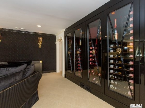 Refrigerated wine wall in The Money Pit House