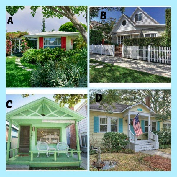 Which one of the four beach cottages for sale is your style?