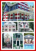 Houses decorated for The 4th of July & Decor Ideas