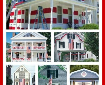 Houses decorated for The 4th of July