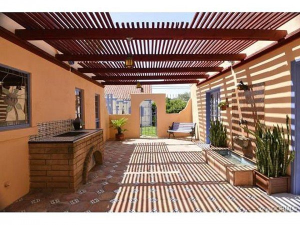 Spanish style patio