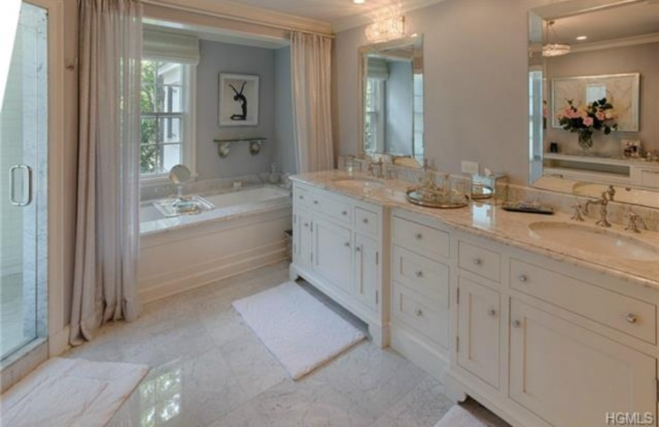 Bathroom - Catherine Zeta Jones Colonial in NY for sale
