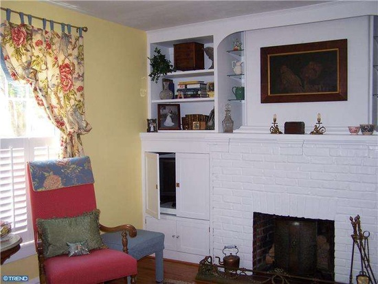 Haddonfield NJ Farmhouse fireplace - Zillow
