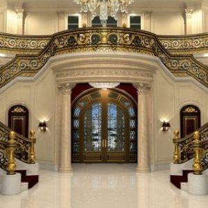Gilded staircase of Le Palais Royal