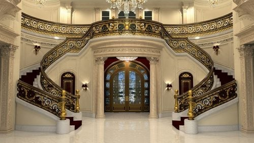 Gilded staircase of Le Palais Royal