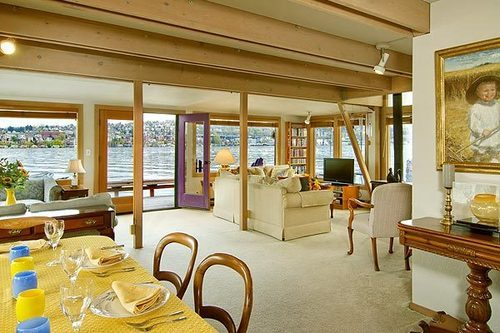 Inside Sleepless In Seattle Houseboat - Sold 2014