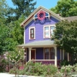 Pretty Purple Victorian Painted Lady