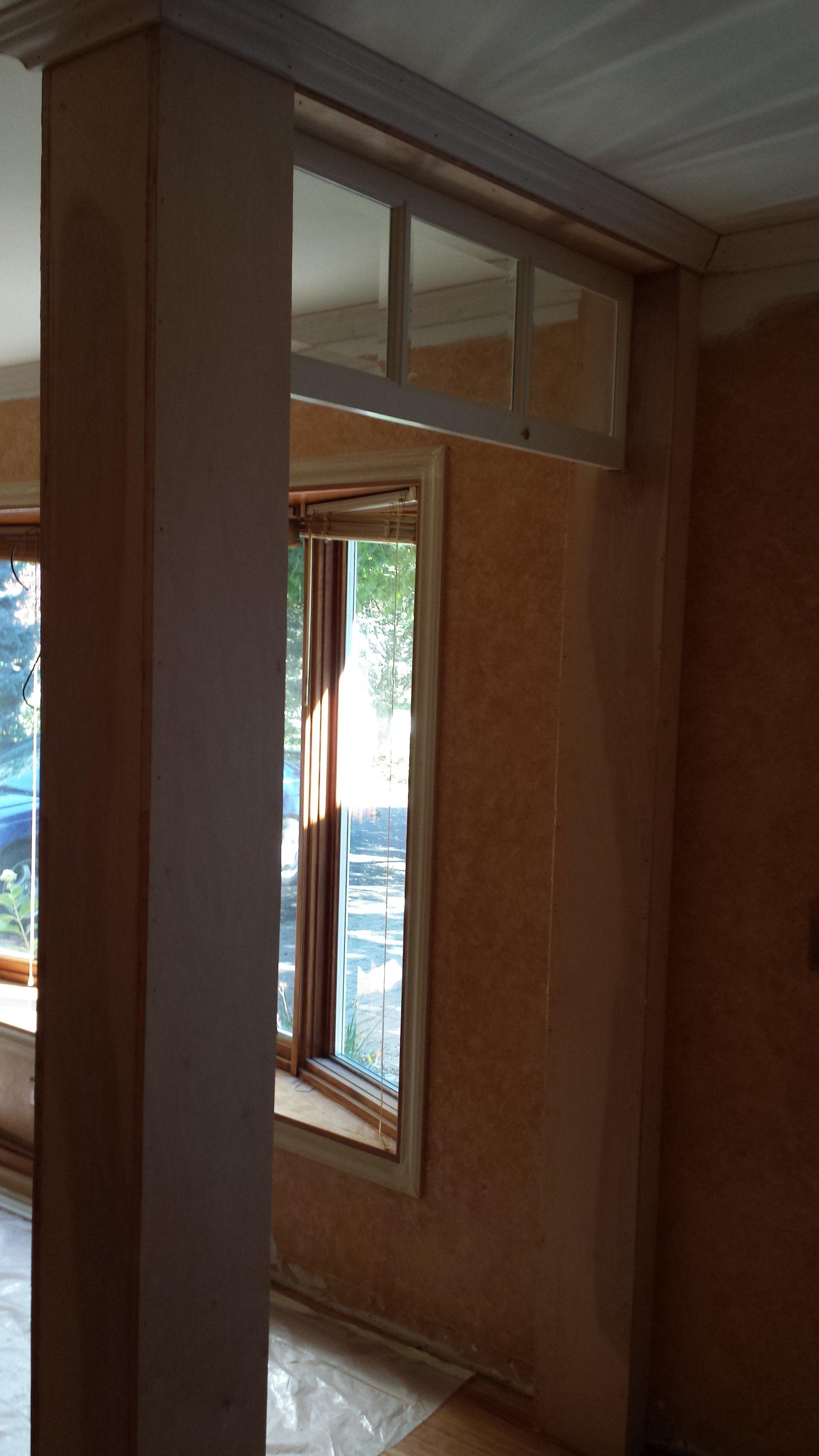 Our Diy Transom Window Entryway Idea