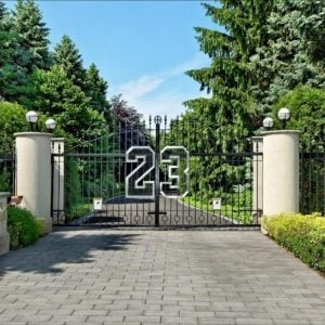 Entrance 2700 Point Drive Highland Park IL Michael Jordan mansion