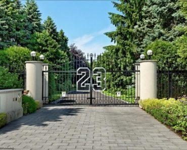 Entrance 2700 Point Drive Highland Park IL Michael Jordan mansion