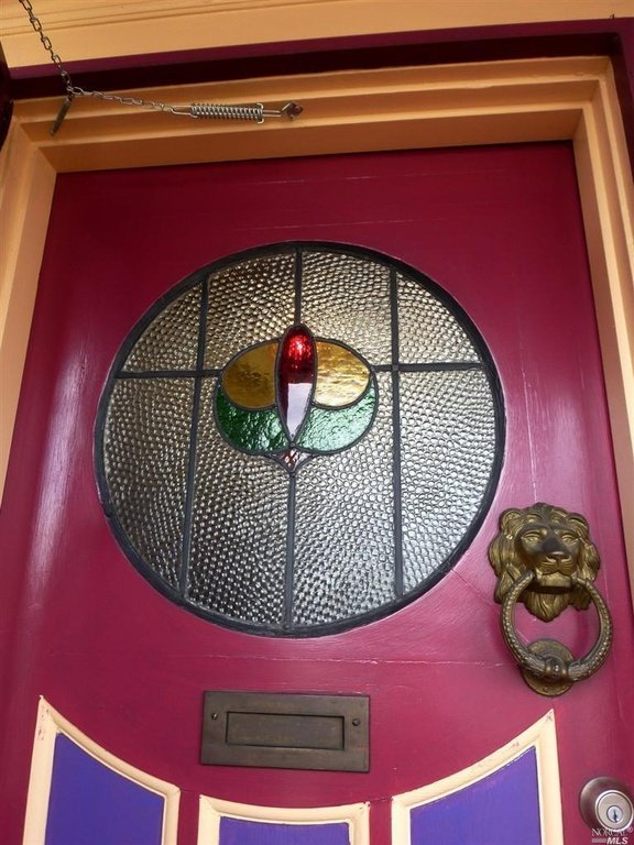 Original leaded glass front door