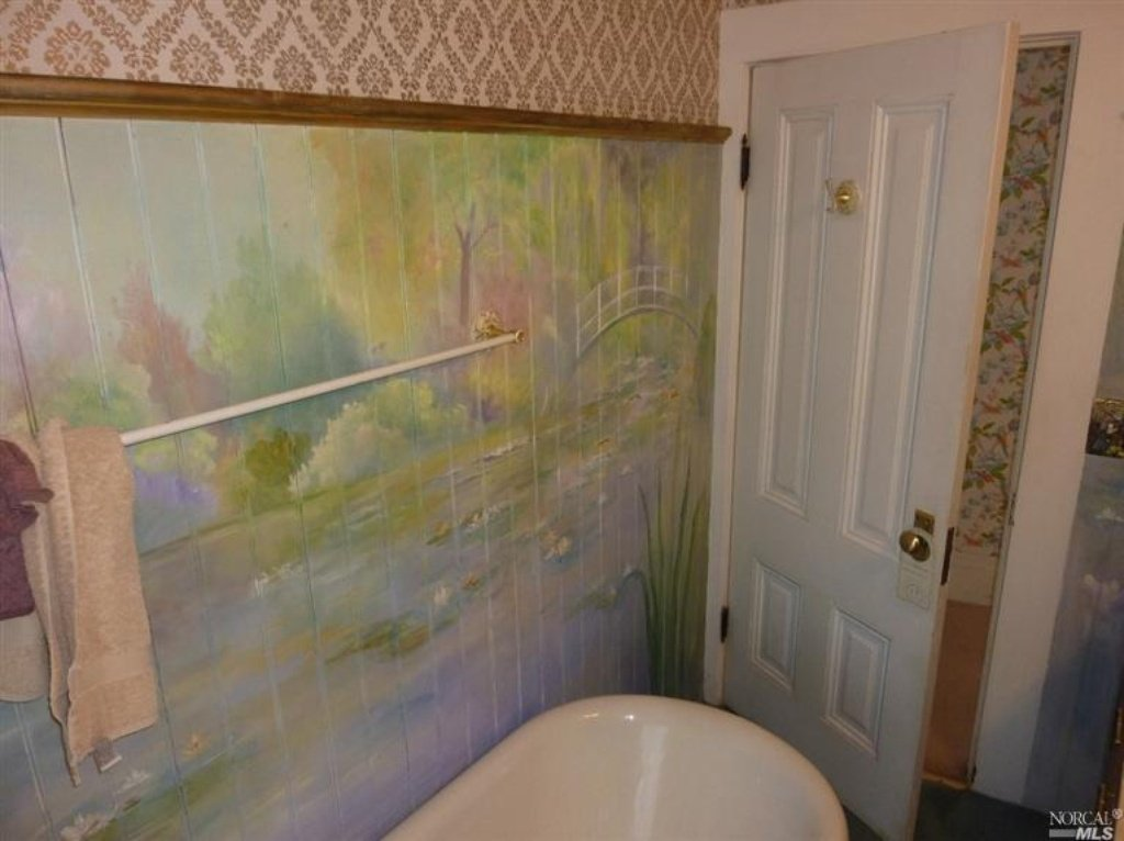 Relaxing Monet mural