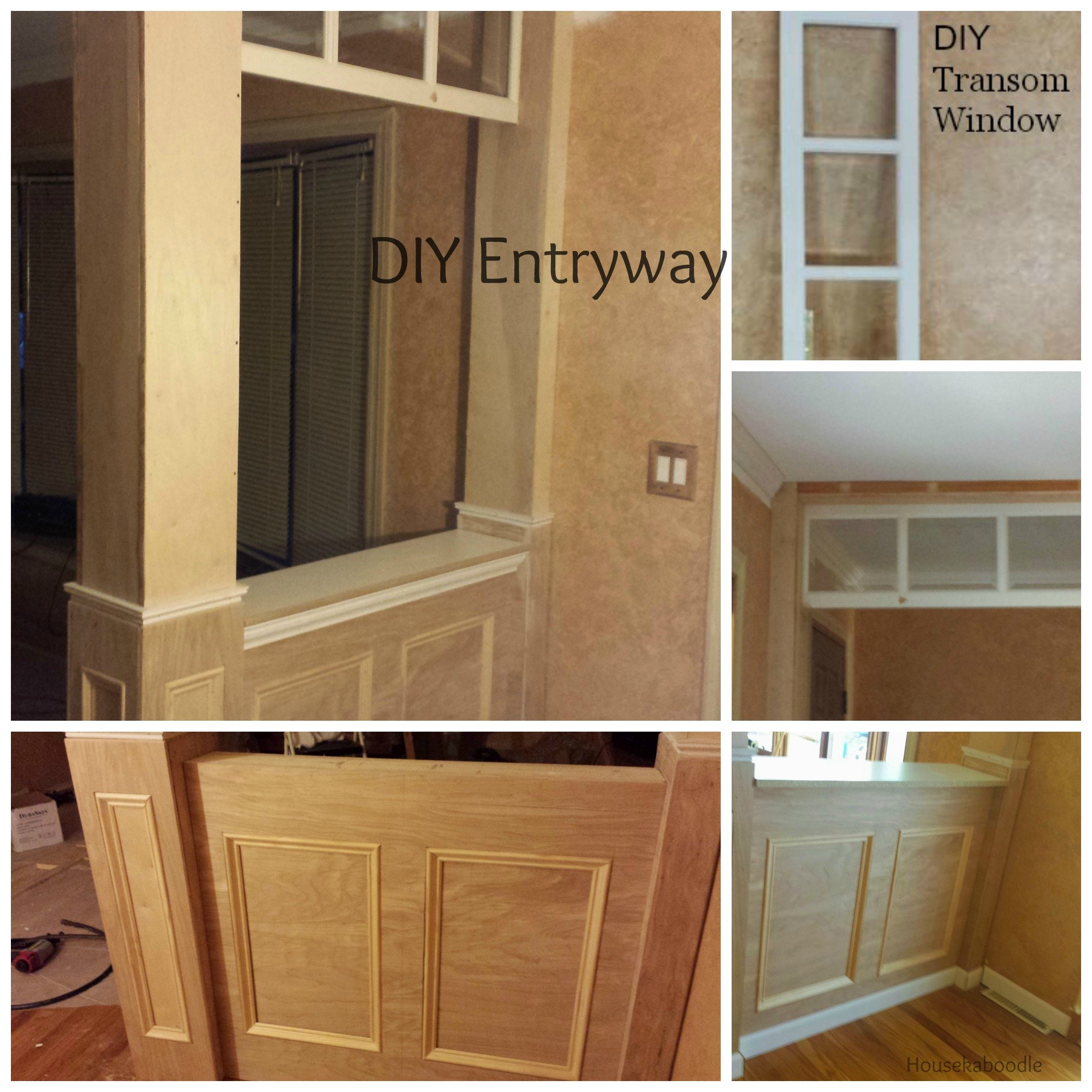 Our Diy Project To Build An Entryway