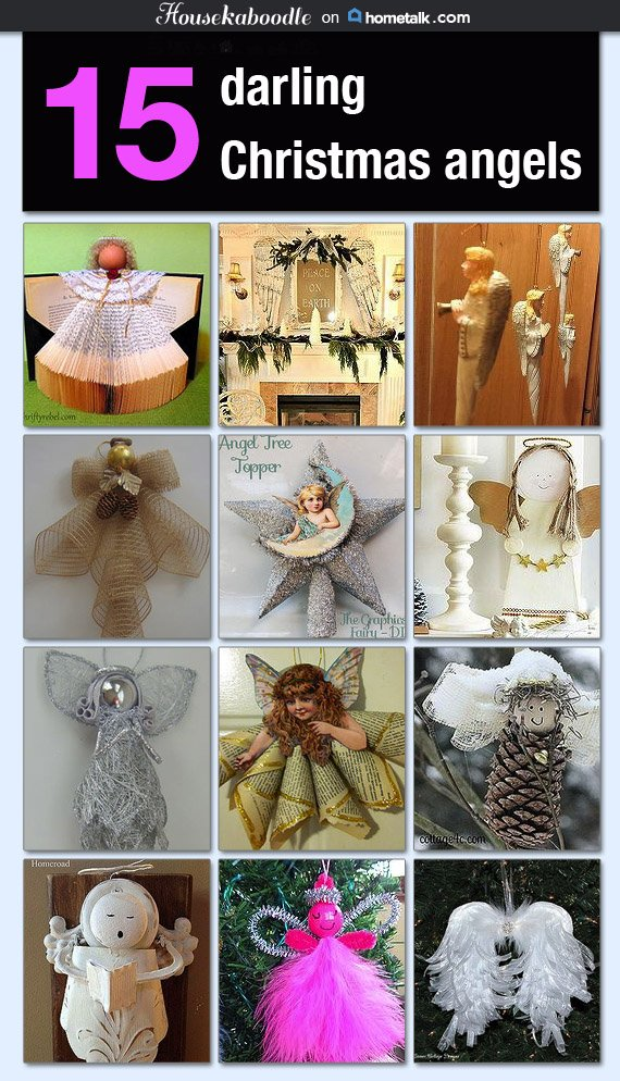 15 Darling DIY Christmas Angels Featured on HomeTalk!