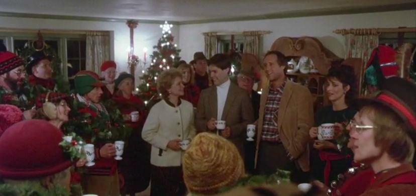 Carolers singing inside Farmer's House - Funny Farm screen capture