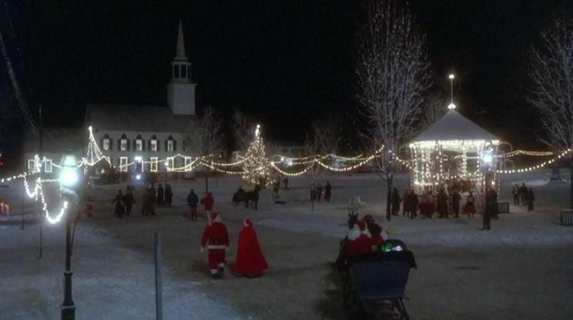 Funny Farm Christmas town scene