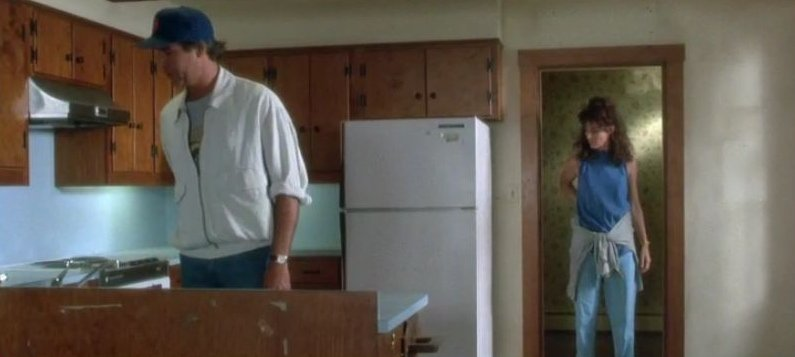 Kitchen on move in day Funny Farm movie