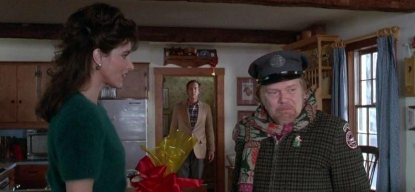 Postman delivers rum nut Funny Farm scene