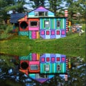 The Whimsical Rainbow House that Sweaters Built