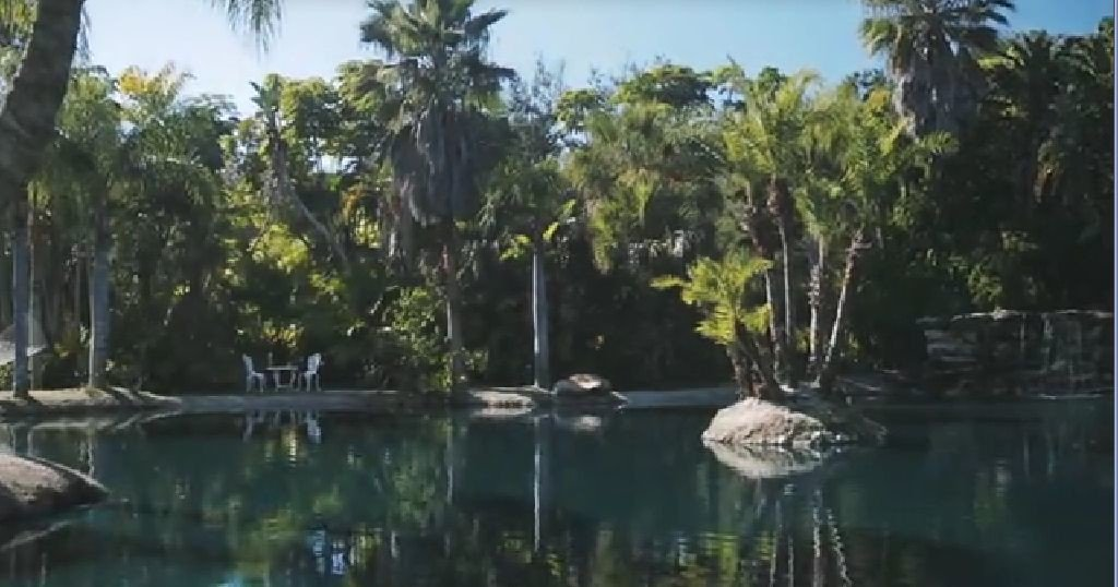Lamb Manor in Florida has a peaceful lagoon, private beach, Manor Home and guest house