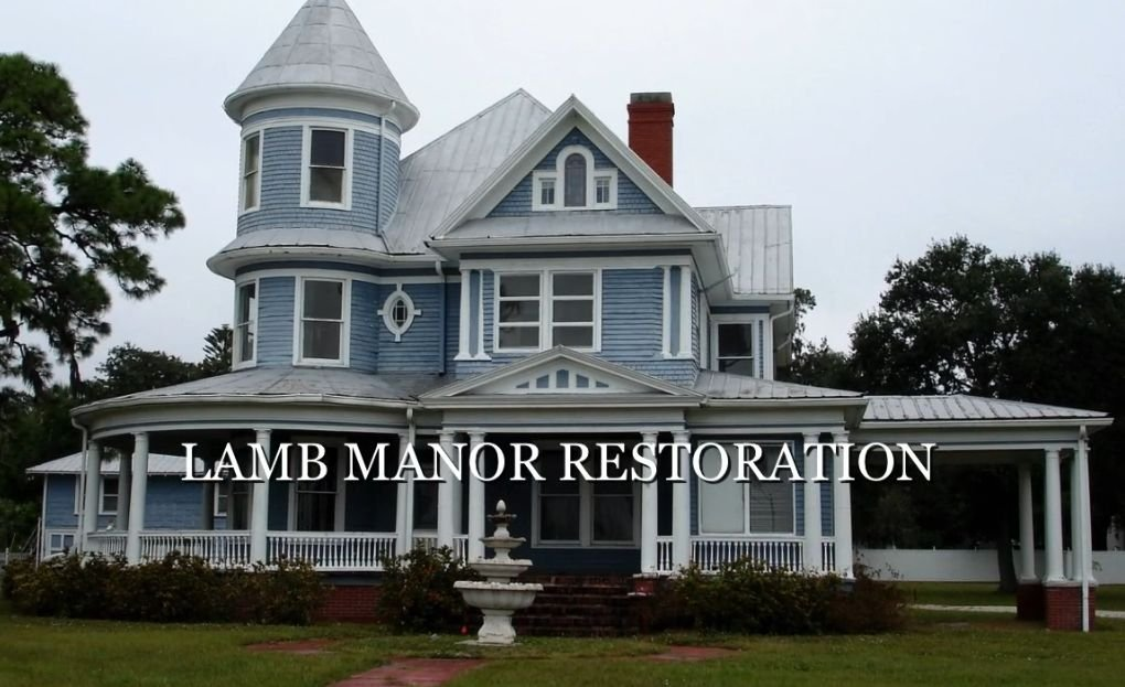 Lamb Manor saved from demolition - before restoration photo