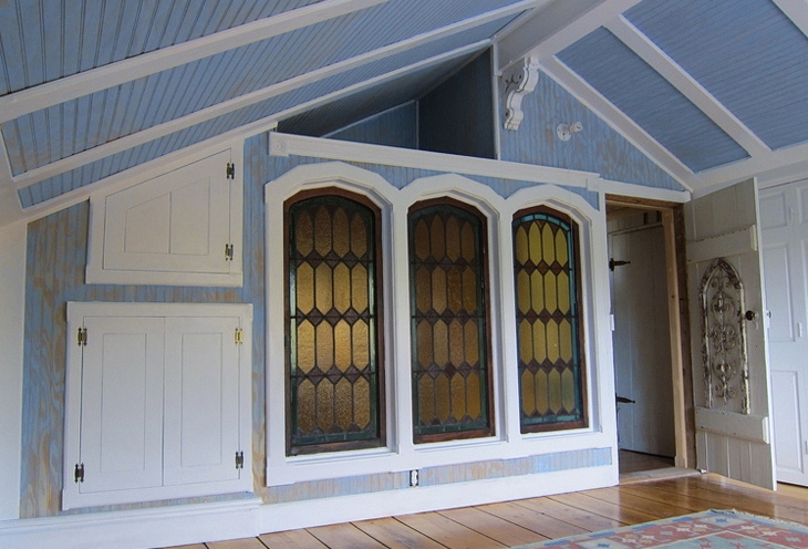 Refurbished stained glass windows from an old mansion  Katwide Calico, Rainbow House
