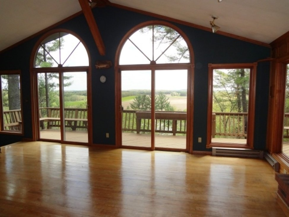 Wautoma WI floor to ceiling windows house for sale