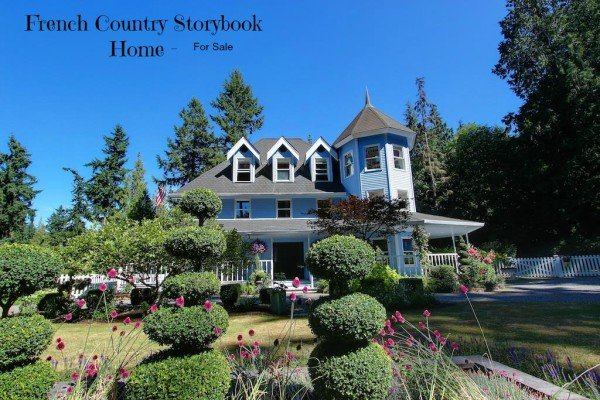 French Country cottage storybook house - Enter Candyland