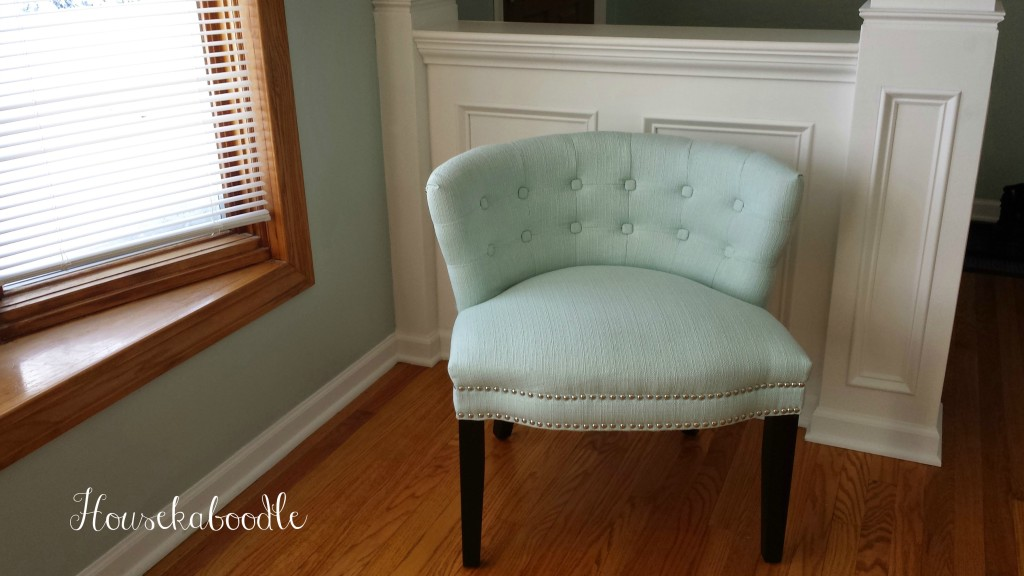 Home Goods turquoise chair