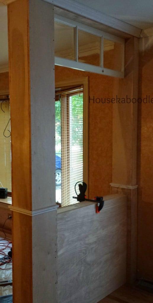 Houekaboodle - DIY Transom Window entryway from scratch